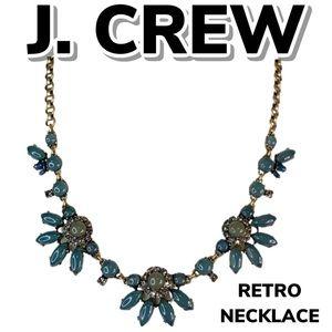 J Crew Enamel & Rhinestone Necklace